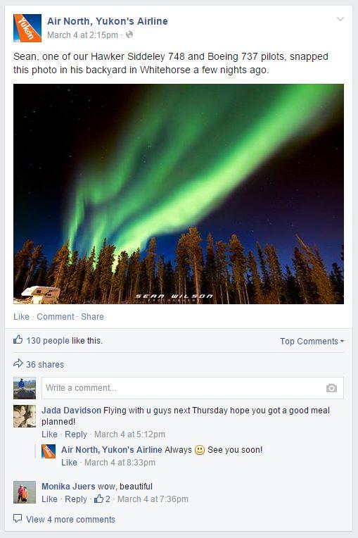 Air North Facebook posts